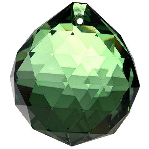 Bola de Cristal Feng Shui - 40mm Verde - Difusor de Energías Solares