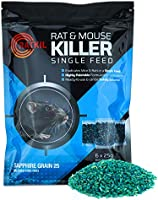 Ratkil Rat Poison (6 x25g) Rat Bait & Mouse Poison Grain - Strongest Maximum Strength Rodent Killer - Fast Acting, All...
