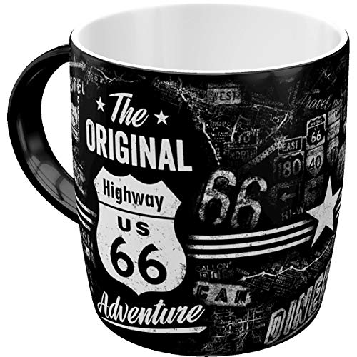 Nostalgic-Art Retro Kaffee-Becher - US Highways - Highway 66 The Original Adventure, Große Retro Tasse, Vintage Geschenk für Route 66 Fans, 330 ml