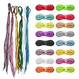 Generic Brands 22 Set de Cordones con Colores Brillantes Añaden un Toque de Color Brillante a tus Zapatos