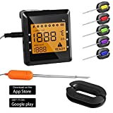 Wireless Meat Thermometer, OUTAD Digital APP Remote Controlled Cooking Food Thermometer Instant Read with 6 Probes for Grill Oven Kitchen Smoker BBQ