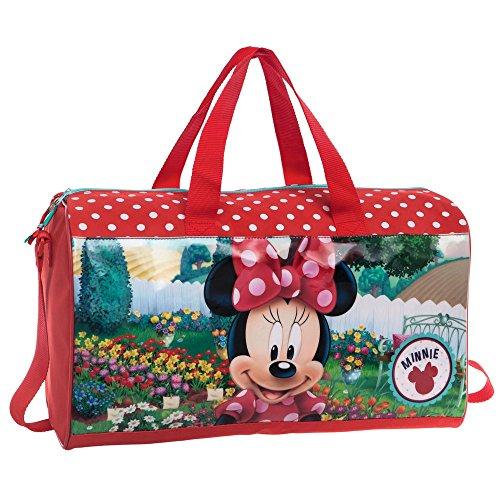Disney Minnie Garden Sac de Voyage, 42 cm, 21.17 L, Rouge