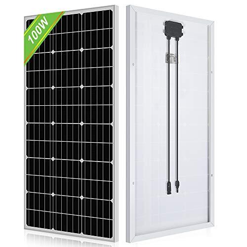 ECO-WORTHY ソーラーパネル 100W 単結晶 太陽光チャージ 超高効率 省エネルギー 耐蝕性 災害対策 日本倉庫出荷 5年品質保証