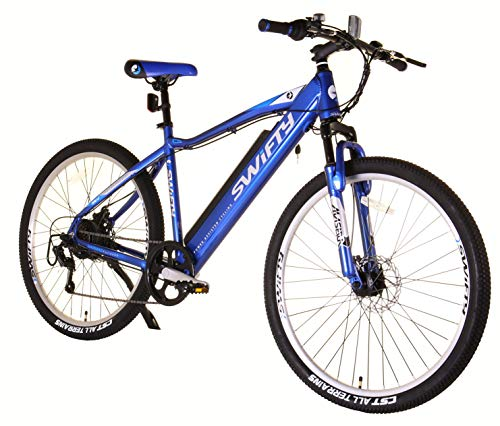Swifty Electric Mountain Bike with Semi-Integrated Battery, Blue