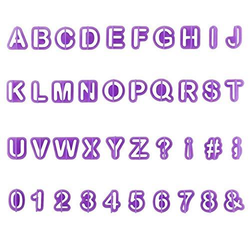 Lettere Stampini Biscotti ,40 Stampini per Biscotti e Torte,Lettere Strumenti Decorare Torta ,Dell'alfabeto Biscotti Formine Taglierine per Decorare Torte,Fondente, Biscotti(2-2.5cm)