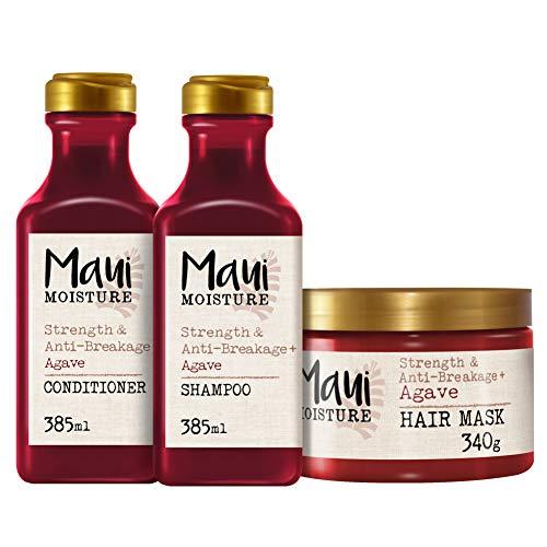 Maui Moisture - Agave Champú Antirrotura, 385 ml + Acondicionador, 385 ml + Mascarilla Antirrotura, 340 g