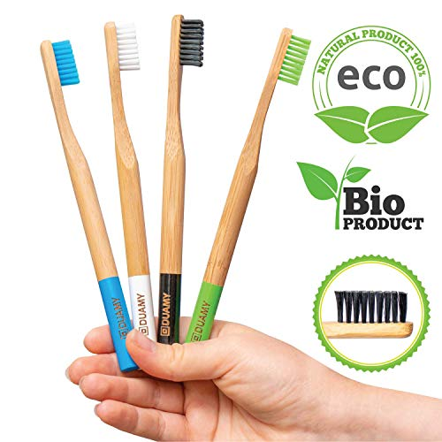 Cepillos de dientes Bambu blandos. Cepillos Ecológicos, 100% Orgánicos, Biodegradables, Naturales y suaves