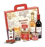 Ducs de Gascogne - Coffret gourmand 'Menu de Fêtes' - comprend 7 produits dont une spécialité au foie gras, un vin rouge et un vin blanc moelleux - spécial cadeau (946525)