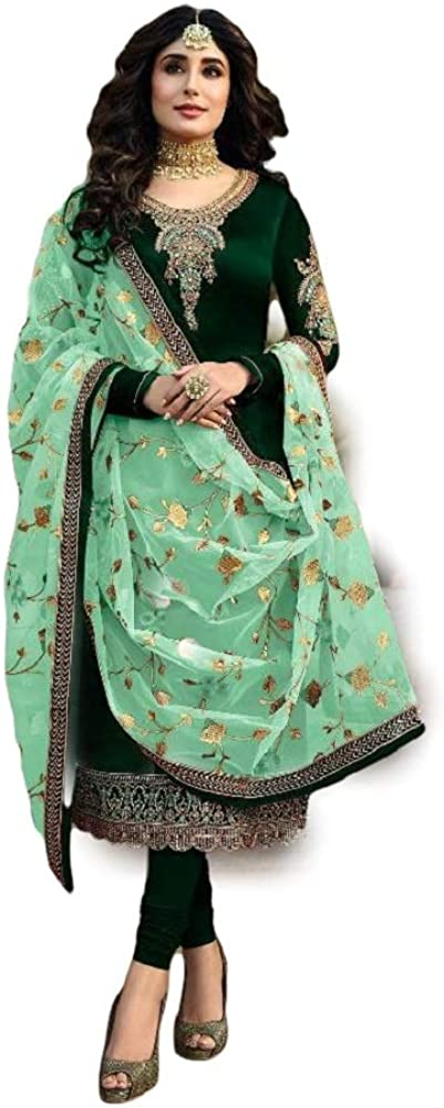 Ready to Wear Women's Indian Pakistani Style Party Wear Designer Salwar Kameez Suit With Matching Dupatta
