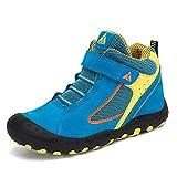 Mishansha Zapatos de Botas de Invierno para Unisex-Niños Botas de Senderismo Cómoda Botas de Montaña Deportiva Azul Gr.26