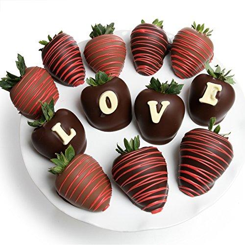 Belgian Chocolate Covered Strawberries | 12pc - LOVE Berry-Gram Gift Box