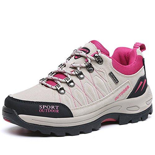 NEOKER Scarpe da Trekking Uomo Donna Arrampicata Sportive All'aperto Escursionismo Sneakers Grigio 38