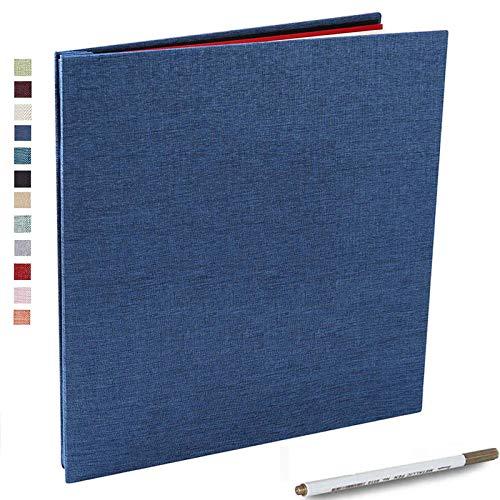 Vienrose Photo Album Self Adhesive 4x6 5x7 3x5 8.5x11 Scrapbook Magnetic Album DIY Scrap Book Length 11 x Width 10.8 (Inches) with A Metallic Pen