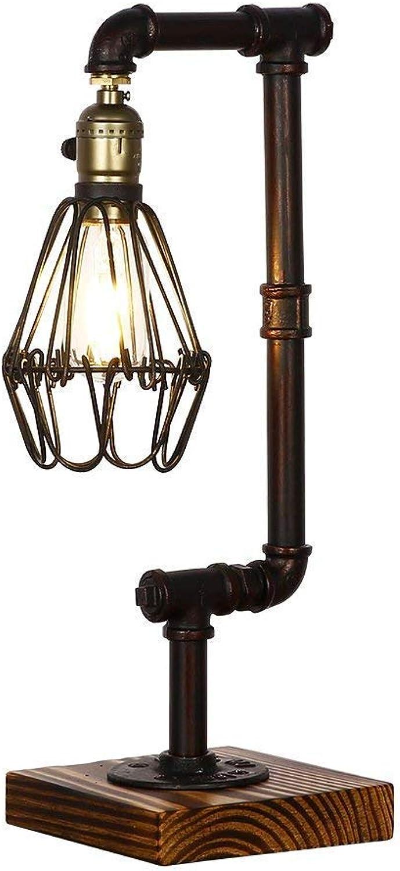 Unbekannt Edison Holz Vintage Industrie Stil Wasser Rohr Tischlampe Schlafzimmer Bar Cafe Dekoration Licht B07HSX61FR | Export