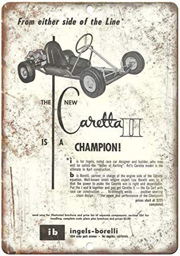 Caretta II Champion Eisen Poster Zinn Wandtür Plakette Stahl Zinn Schild Wandschild Kunst Dekorationen für Cafe Bar Park Hotel,20x30cm