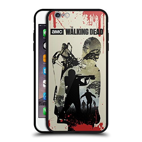 Head Case Designs Oficial AMC The Walking Dead Daryl Completo Siluetas Estuche de Cristal Híbrido Compatible con Apple iPhone 6 Plus/iPhone 6s Plus