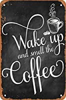 コーヒーの香り 金属板ブリキ看板警告サイン注意サイン表示パネル情報サイン金属安全サイン