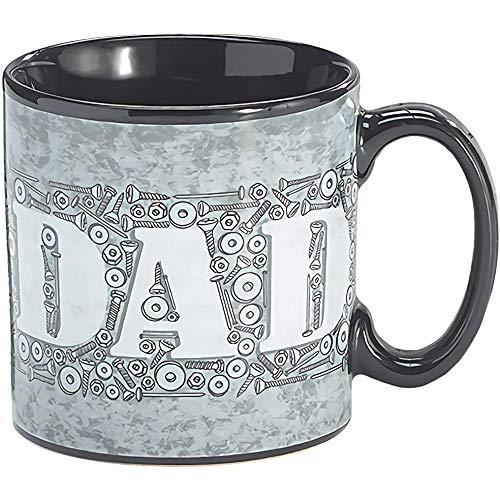 Taza Dad Nut and Bolts con interior negro y asa gris
