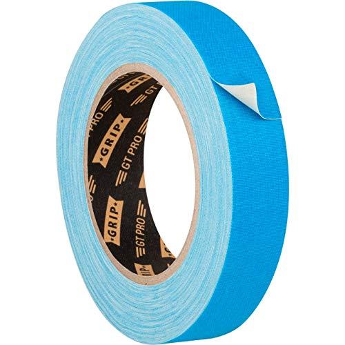 GRIP Eventbasics GT PRO Neon Tape neonblau, 25 mm x 25 m, Schwarzlicht Gaffa Tape fluoreszierend, matt