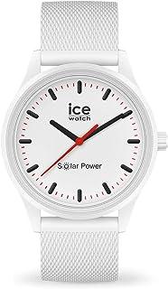 Ice-Watch - Ice Solar Power Polar Mesh - Montre Blanche Mixte avec Bracelet en Silicone - 018390 (Medium)