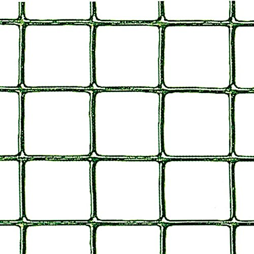 Verdemax 9051 - Rollo de Malla Cuadrada (Metal plastificado, 0,5 x 5 m), Color Verde