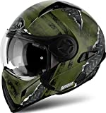 Casco Modulare Airoh J106 Crude - Green Matt / Yellow Matt (M, Green Matt)