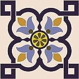Mi Alma Azulejos decorativos de baño 24 piezas Talavera adhesivos para azulejos de fácil aplicación – Diseño decorativo – Ideal para baño, cocina, azulejos de pared de 15,2 x 15,2 cm, Bloom)