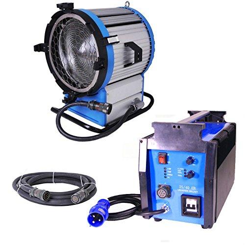 Kinosun Compact HMI 2500W Fresnel Light + 2.5 4K Ballast 90-130V Flicker-free