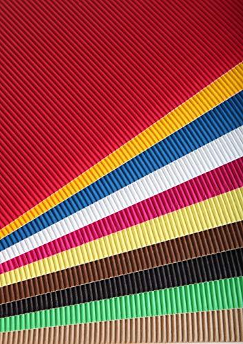 Clairefontaine Papier verschiedener einwandige Karton, Mehrfarbig, 50x 35cm, Blatt von 15