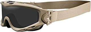 WileyX SPEAR Safety Goggles, Smoke Grey Lenses with RX Inserts Offered in Matte Black & Tan color from Eyeweb