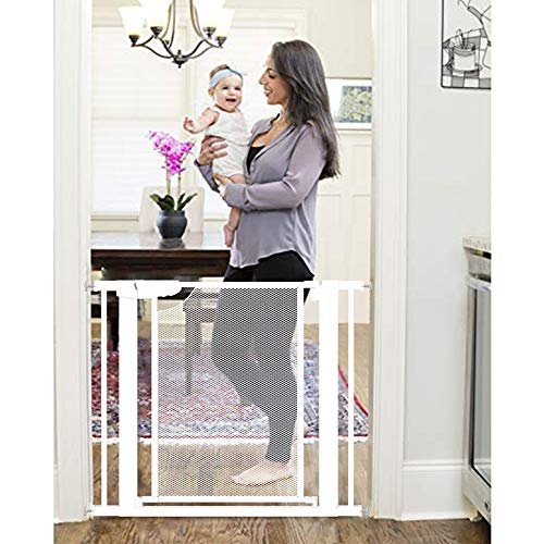 Heele Metal Mesh New Design Baby Gate Auto Close for Stairs,Extra Tall and Wide Child Gate,Extra Wide 29.52'~35' Easy Walk Thru Durability Pet Gate.Doorways Gate