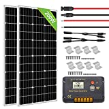 ECO-WORTHY 200 Watts Solar Panel Kit for RV, Camper, Vehicle, Caravan and Any Other Off Grid Applications