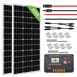 ECO WORTHY 200 Watts Monocrystalline Solar RV Kit for Camper, Vehicle, Caravan and Any Other Off Grid Applications