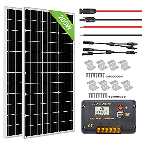 Eco-Worthy 200W Monocrystalline Off-Grid RV Solar Panel
