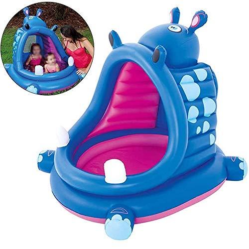 Generic002 Zona Infantil, así Forma Hippo Piscina del bebé Sombrilla Inflable Piscinas Infantiles Piscinas de Arena Piscina Bañera Océano Ball, for Las Edades 3+