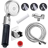 Vimeka Premium High Pressure Shower Head Hand-Held with ON/OFF Pause Switch and Stainless Steel Hose...