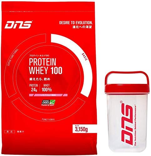 DNS プロテイン ホエイ 100 3kg + シェーカー セット (ストロベリー 風味) [ヘルス&ダイエット食品]