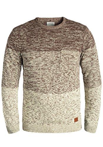 Blend Garry Herren Strickpullover Feinstrick Pullover Mit Rundhals Und Melierung Aus 100% Baumwolle, Größe:XL, Farbe:Mocca Mix (70816)