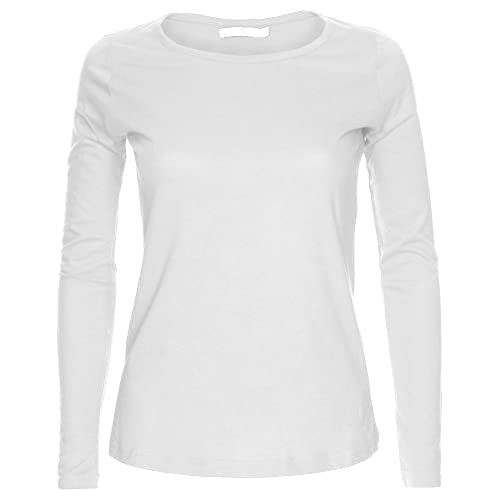 2df8e26d328a LessThanTenQuid Missloved ® Ladies Womens Plain Long Sleeve Round Neck Top  UK Sizes 8-18