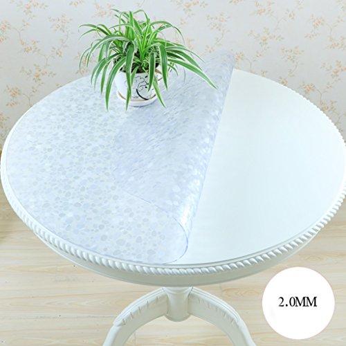 Nappe ronde en verre souple de PVC imperméable à l'eau et imperméable à l'eau Transparent transparent matelas nappe Table Nappe de table ronde (taille : 80 * 80cm)
