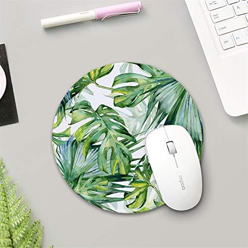 Insun Mauspad Runden mit Verstärkte Kanten Tischunterlage Wasserdicht Anti Rutsch Matte Schreibunterlagen Mousepad für Maus und Tastatur Monstera 3 25cm Durchmesser