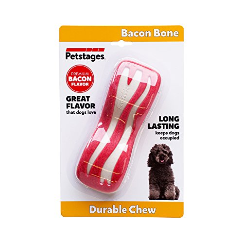 Petstages Bacon Dental Bone Dog Chew Toy