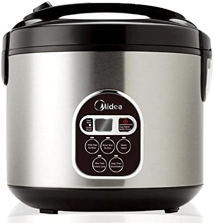 Midea Rice Cooker 5L MB M10 Digital Multi Functional 10 Cup uncooked Ricer Cooker Steamer Brown product image