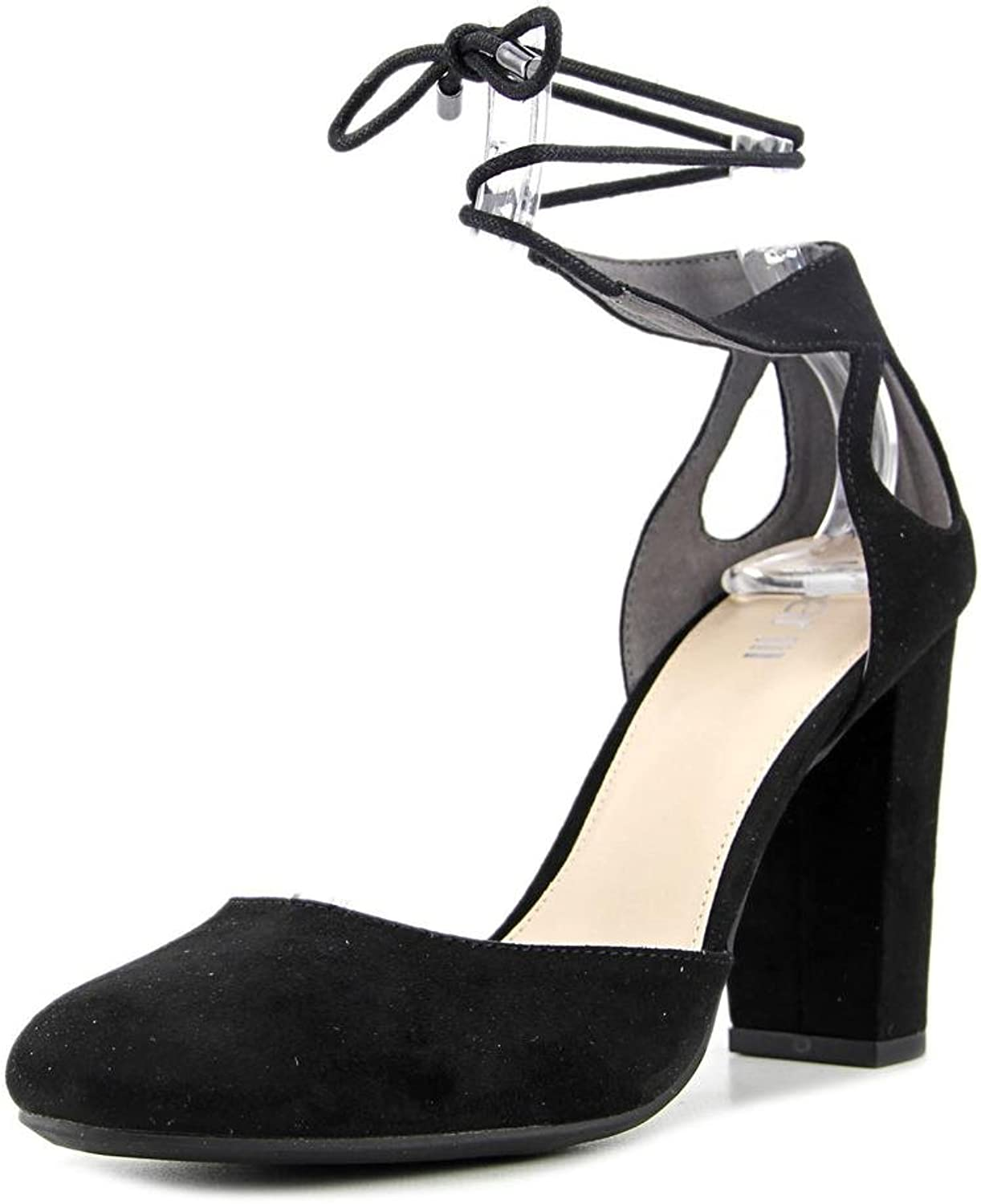 Bar III Womens Sabrina Closed Toe Ankle Strap D-orsay Pumps, Black, Size 7.0