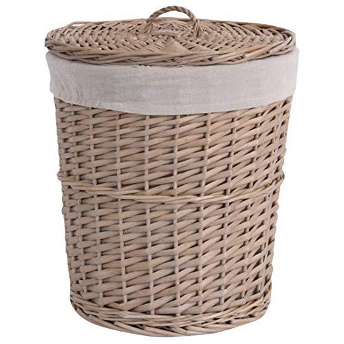 NEYOANN Cesta de mimbre grande con tapa para ropa sucia, cesta de ropa para ropa sucia, cesta para la colada