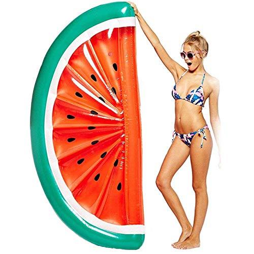 Vidtoss Riese Schwimmbad Party Schweben Floß, Frühling Aufblasbar Floatie Salon/Schwimmbad Liegestühle Wasser Hängematte Spielzeug für Erwachsene & Kinder L183*W79*H20cm - Wassermelone