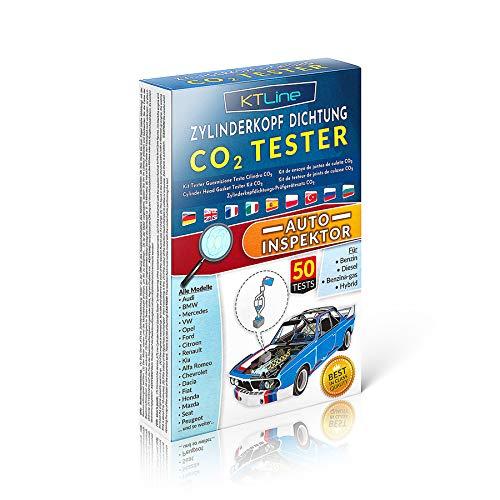 CO2 Lecktester Zylinderkopfdichtung Tester Professionell Auto Lecksucher für Kühlwasser System Kfz Universal Leck Prüfen Benzin Diesel Gasantrieb Erkennt Dichtungs und Kopfschäden in Autos Motorrädern