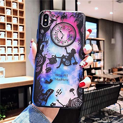 iPhone11pro Alice funda para teléfono móvil Aplicable a la cubierta protectora de carcasa suave de dibujos animados Apple XR' 8plus Snoopy