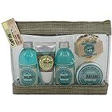 Gloss - caja de baño, caja de regalo para mujeres - Kit de baño EcoBalance - flores de peonía y pachulí - 5pcs