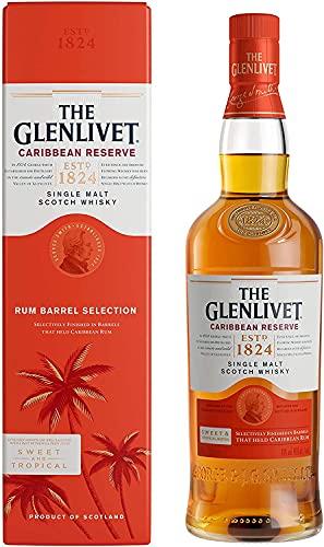 The Glenlivet Caribbean Reserve Single Malt Whisky (Rum Barrel Selection), 70 cl with Gift Box